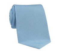 Woven Silk Solid Tie in Cloud
