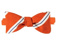 Mogador Striped Bow Tie in Orange