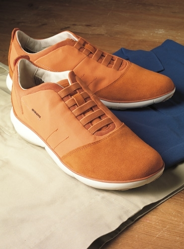 The Geox Performance Sneaker in Orange