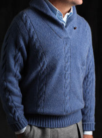 Scottish Cashmere cable and stitch pullover