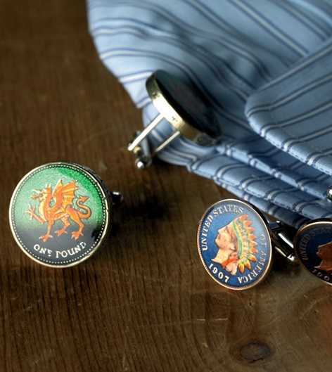 Authentic Coin Cufflink Collection