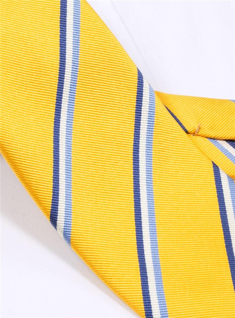 Silk Triple Stripe Tie in Sun