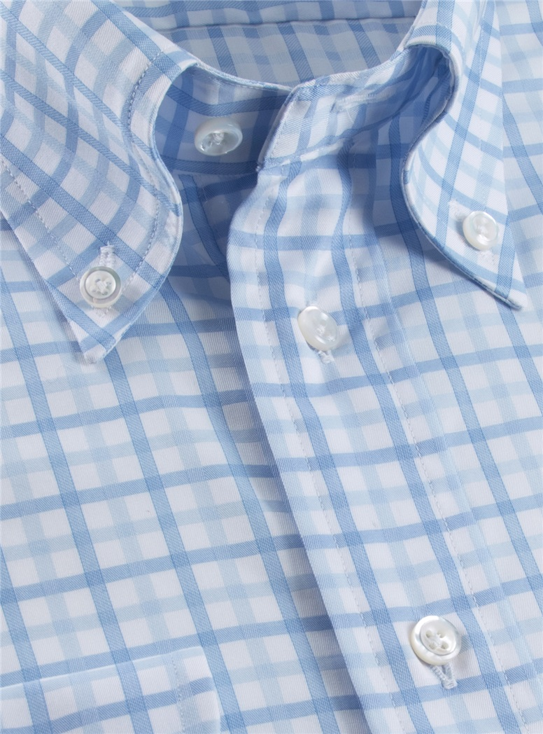 Sky and Cobalt Tattersall Button Down