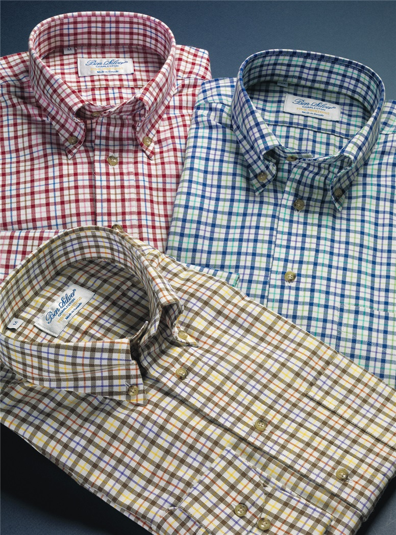 Brushed Cotton Plaid Button Down in Ruby
