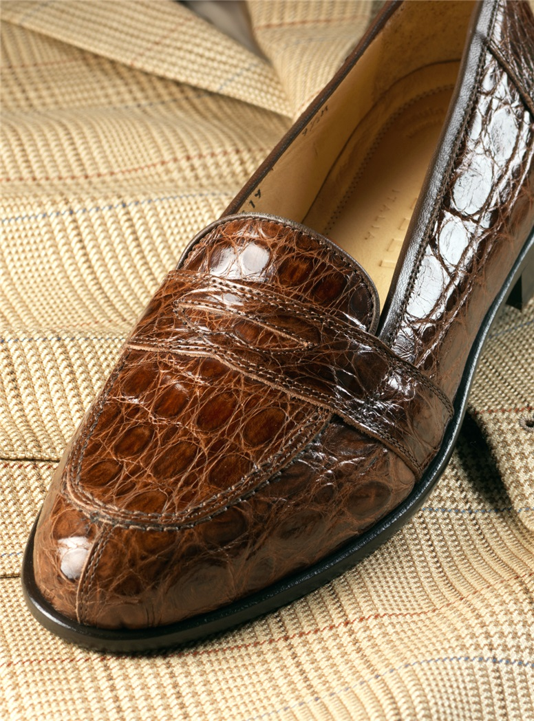 The Crocodile Loafer in Cognac