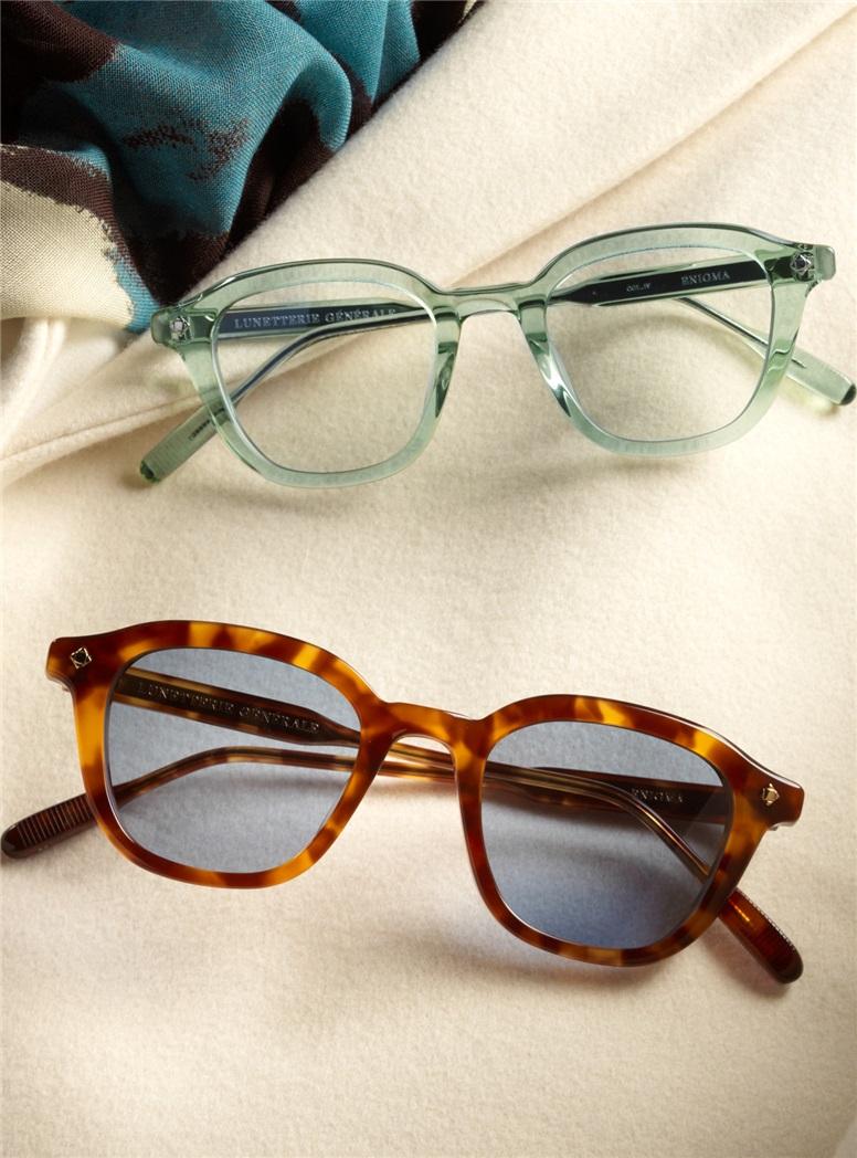 Bold Semi-Round Sunglasses in Emerald Crystal
