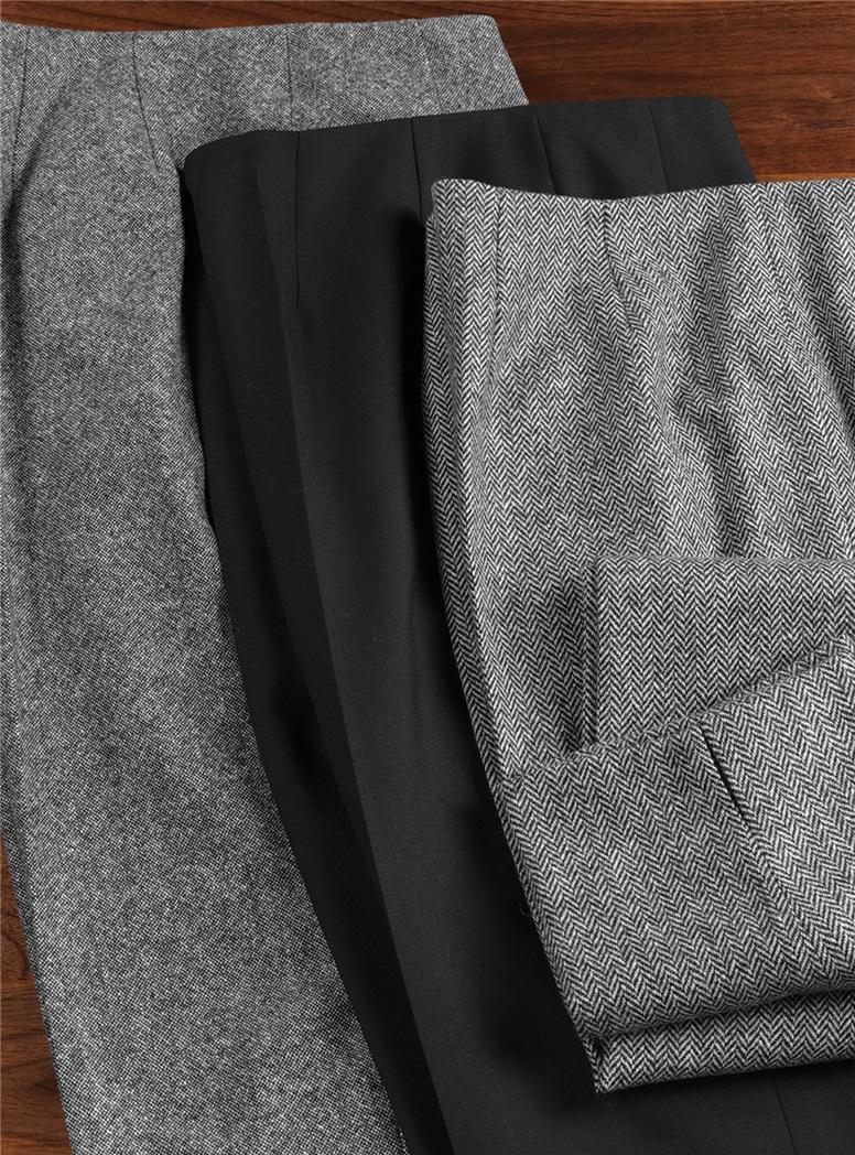 Ladies Black Wool Trousers
