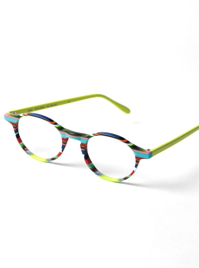 Multi-Colored Handmade Frame in Lime and Aqua