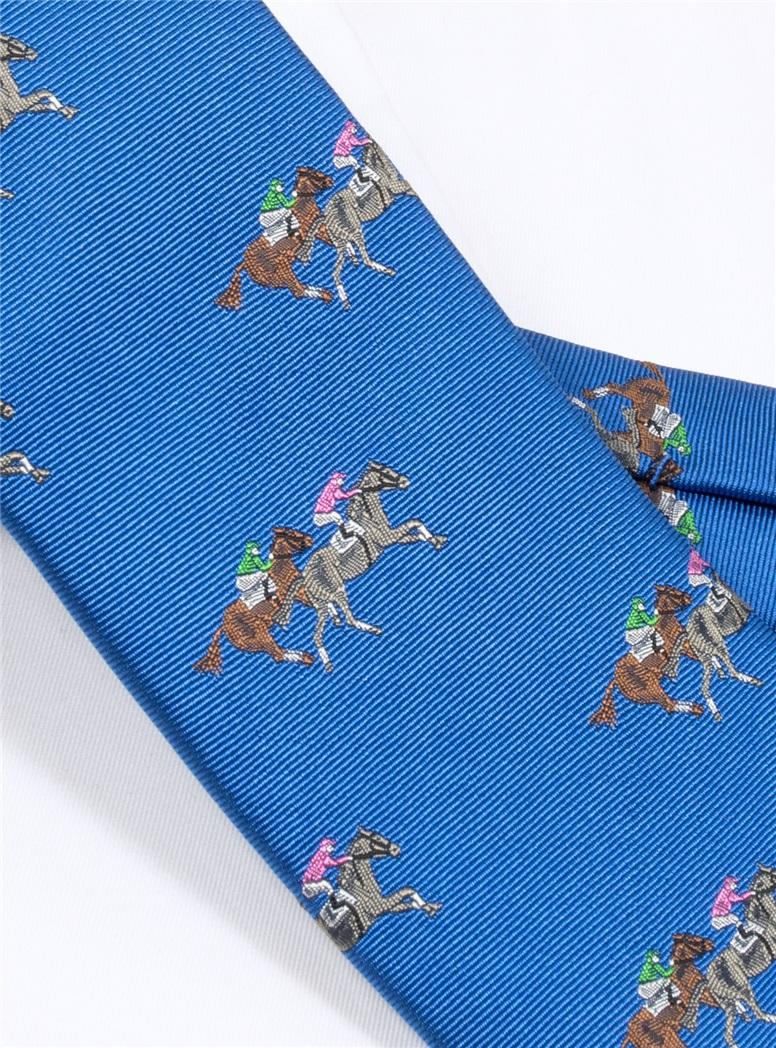 Silk Woven Derby Tie in Azure