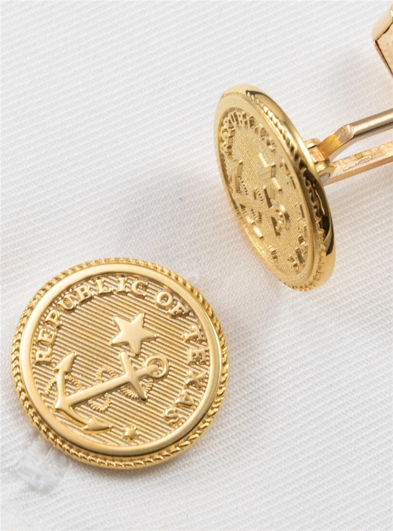 Texas Navy Cufflinks in 14kt Gold Filled