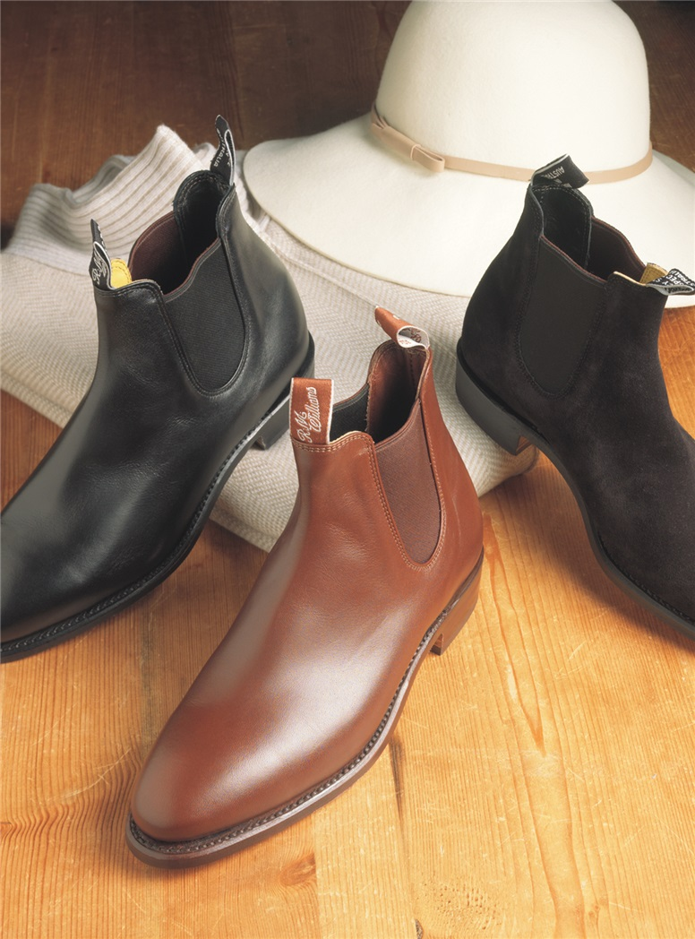 R.M. Williams Adelaide Boots in Dark Tan Leather