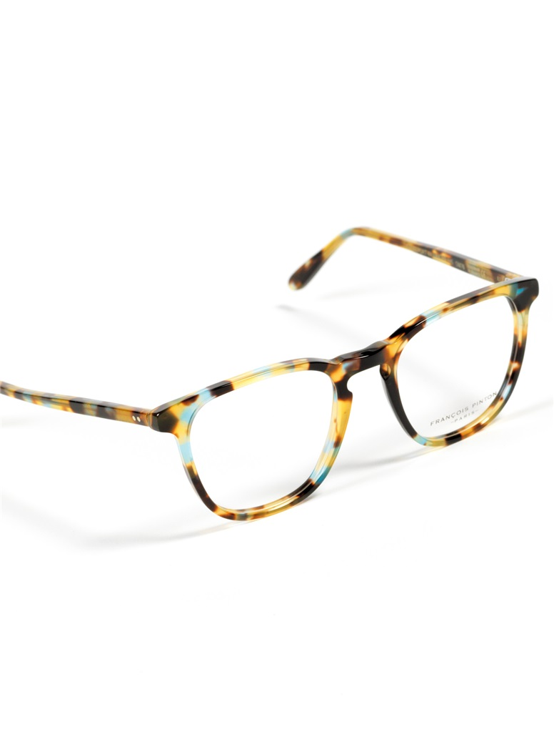 Semi-Square Frame in Teal Tortoise