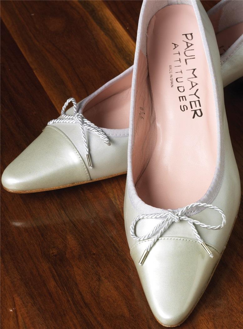 Kitten Heel in Silver