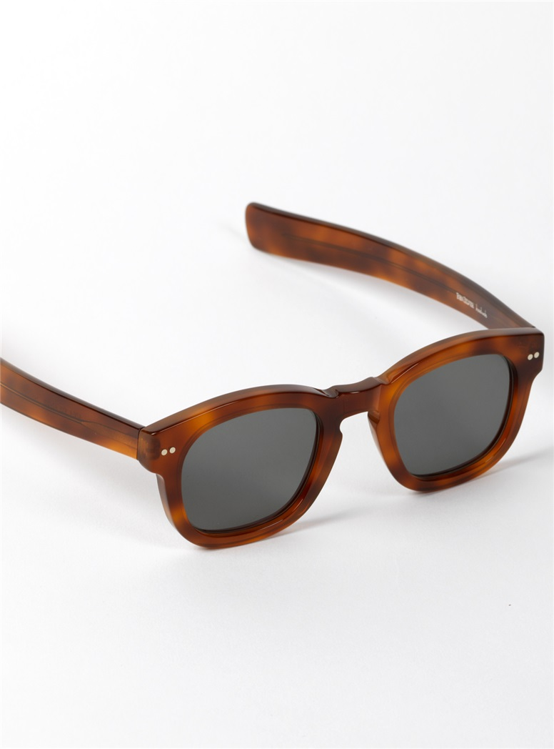 Bold Semi-Square Sunglasses in Amber