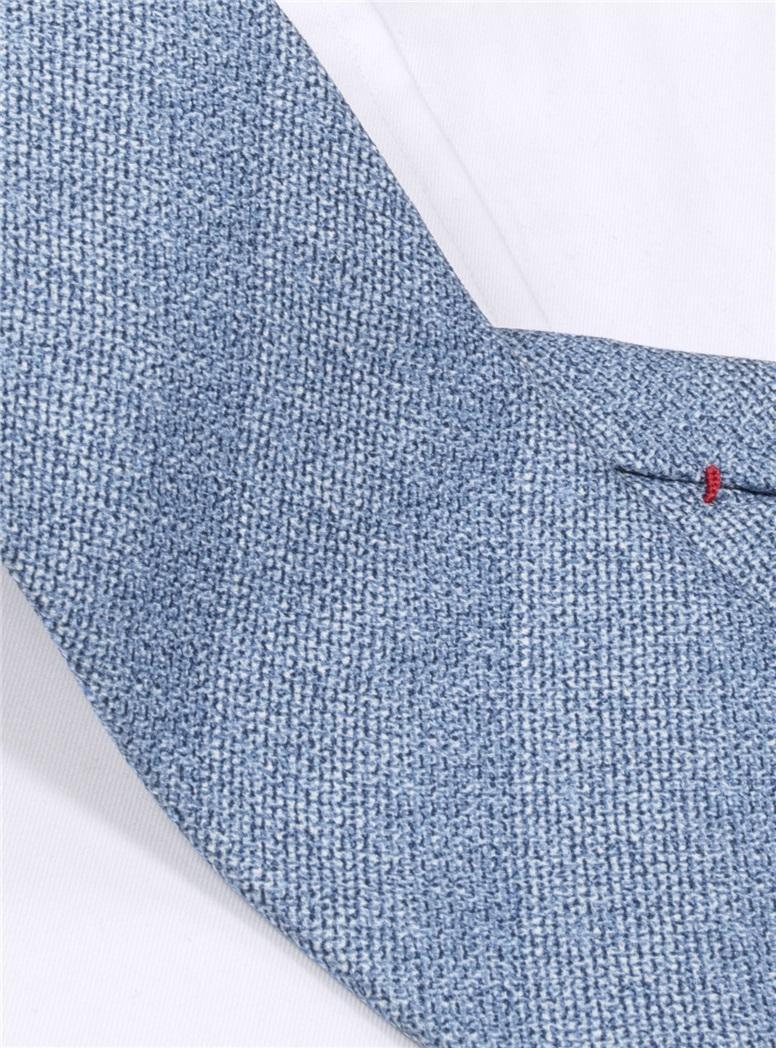Silk Woven Tie in Sky
