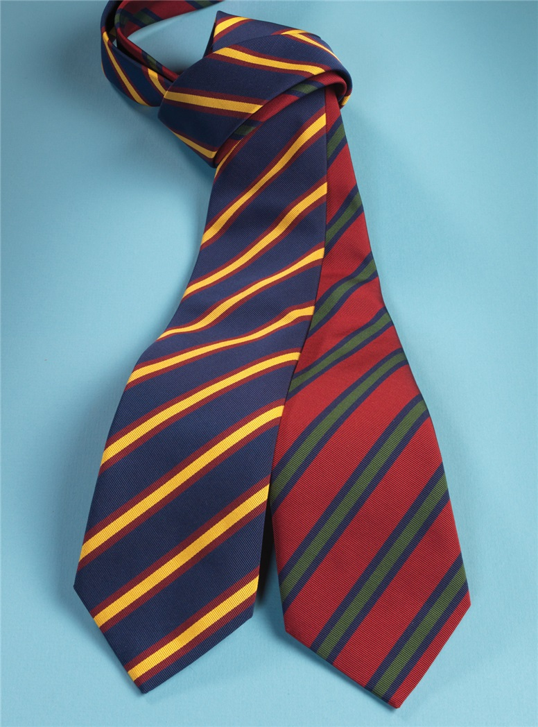 Mogador Striped Tie in Ruby