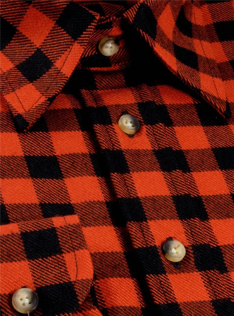 Wool Tartan Overshirt in Rob Roy