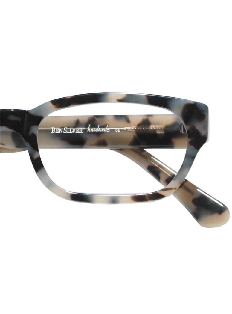 Bold Rectangular Frame in Cream Tortoise