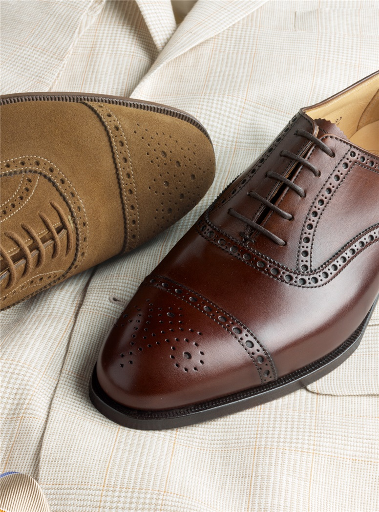 The Berkeley Oxford in Chestnut, Size 8