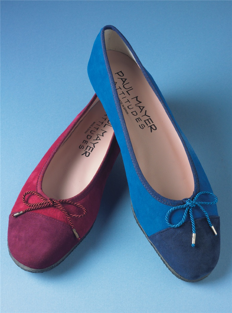 Ladies Suede Flats in Bordeaux