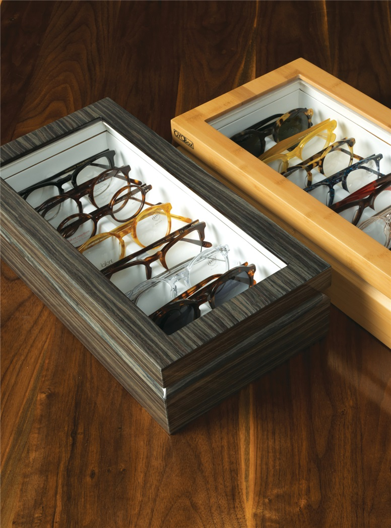 Large Eyewear Chest in Zebra Grey