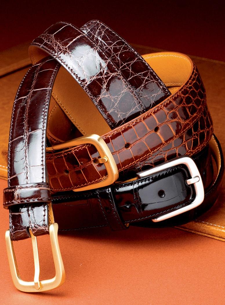 Shiny Finish Alligator Belts