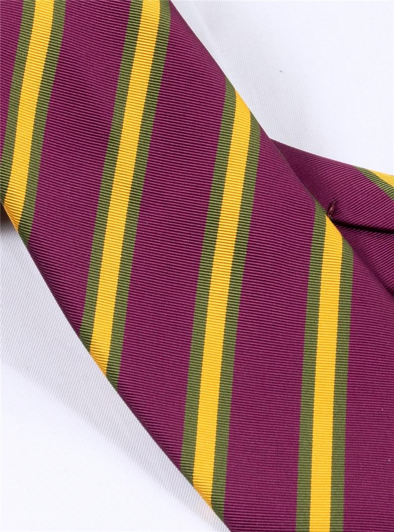 Mogador Striped Tie in Plum