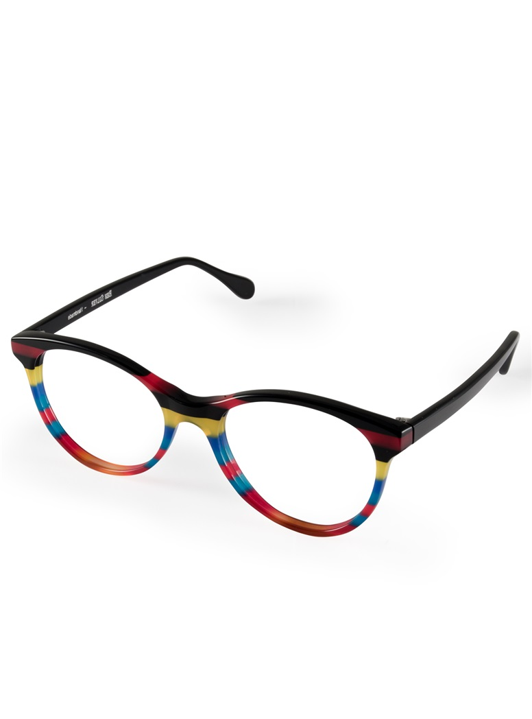 Multi-Colored Handmade Frame in Black, Pink, Yellow and Blue