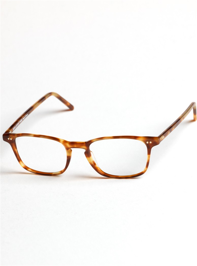 Slim Rectangular Frame in Amber Tortoise