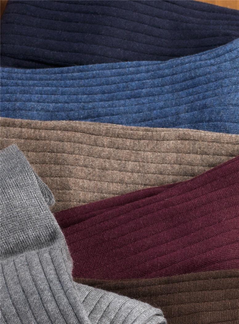 "Cotton, Silk and Cashmere ""Bio Luxury"" Dress Socks"