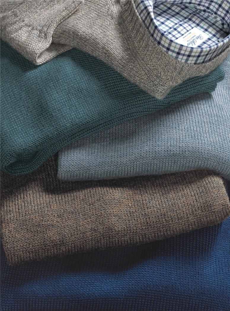 Alpaca and Silk V-neck Sweaters