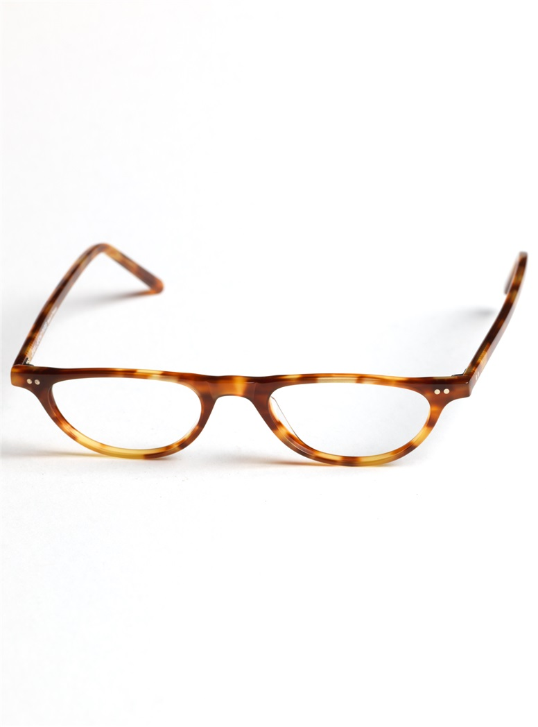 Half-moon Reader in Amber Tortoise