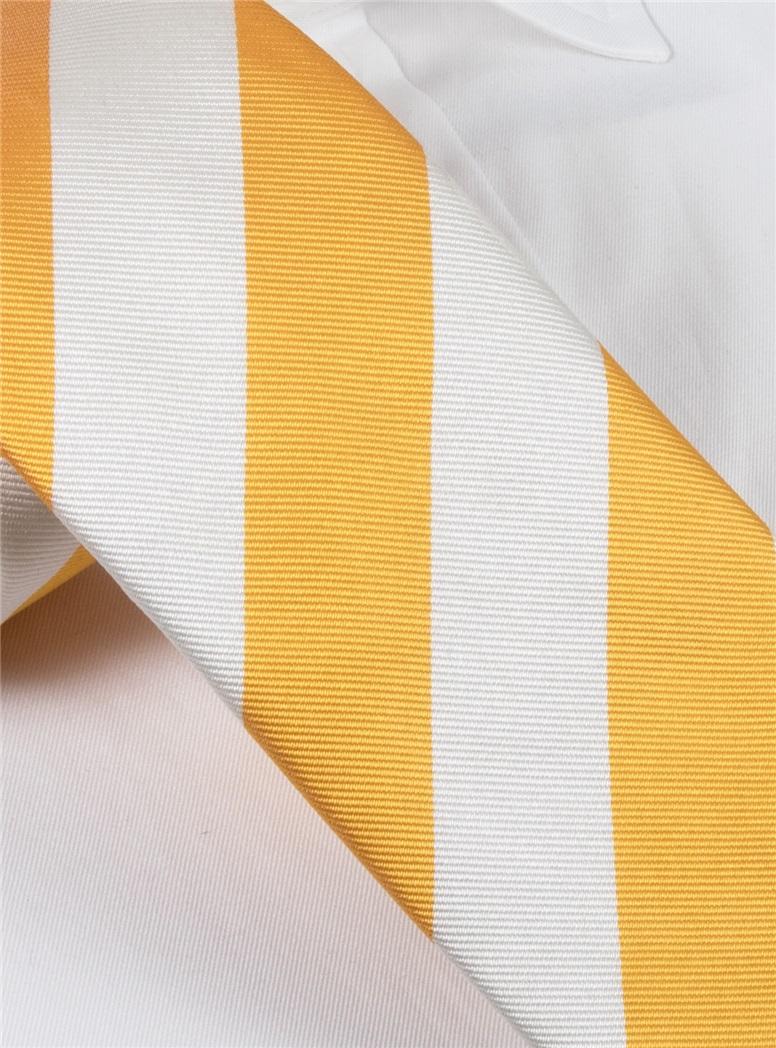Silk Block Stripe Tie in Sun