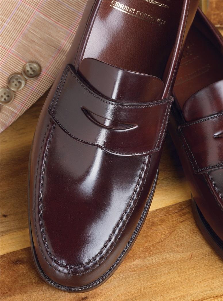 The Harvard Loafer in Burgundy Cordovan