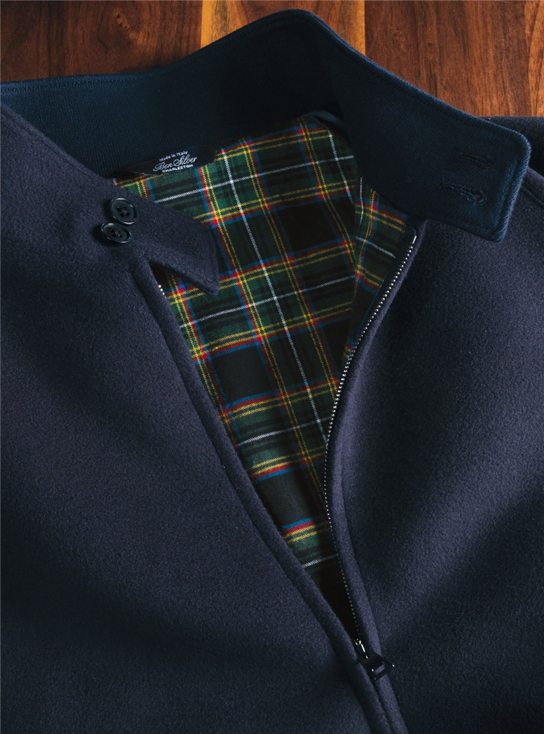 Wool and Cashmere G9 Jacket in Navy