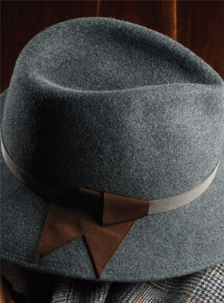 Felt Fedora Hat in Graphite