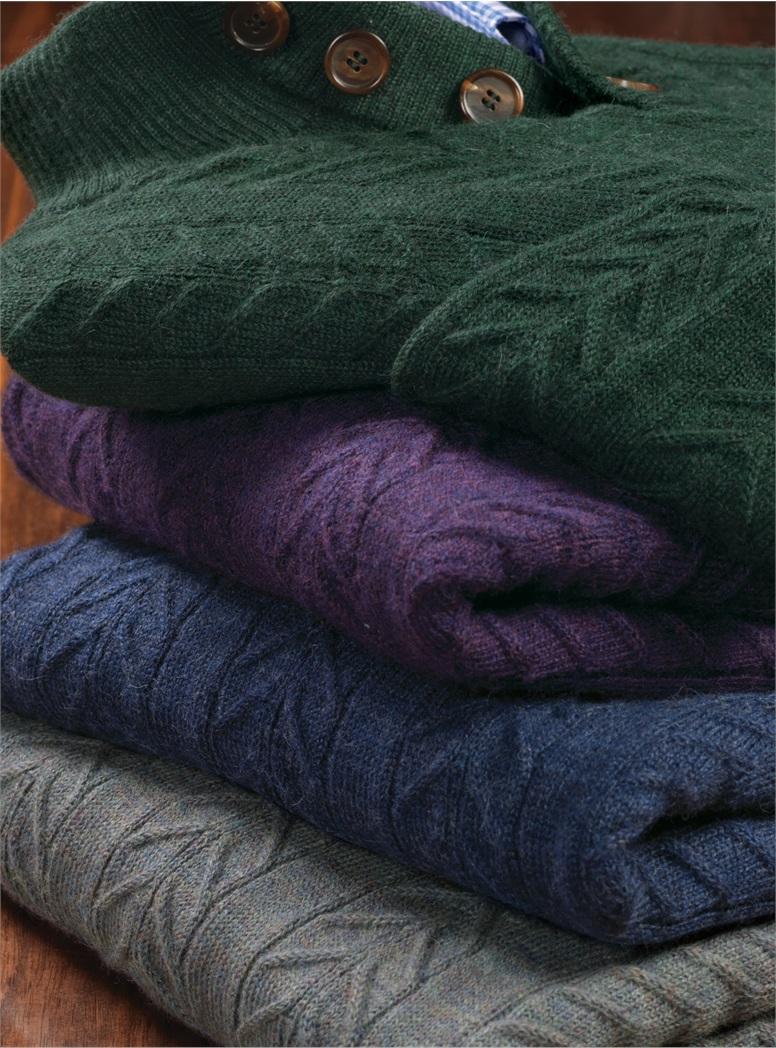Royal Alpaca Button Collar Sweaters