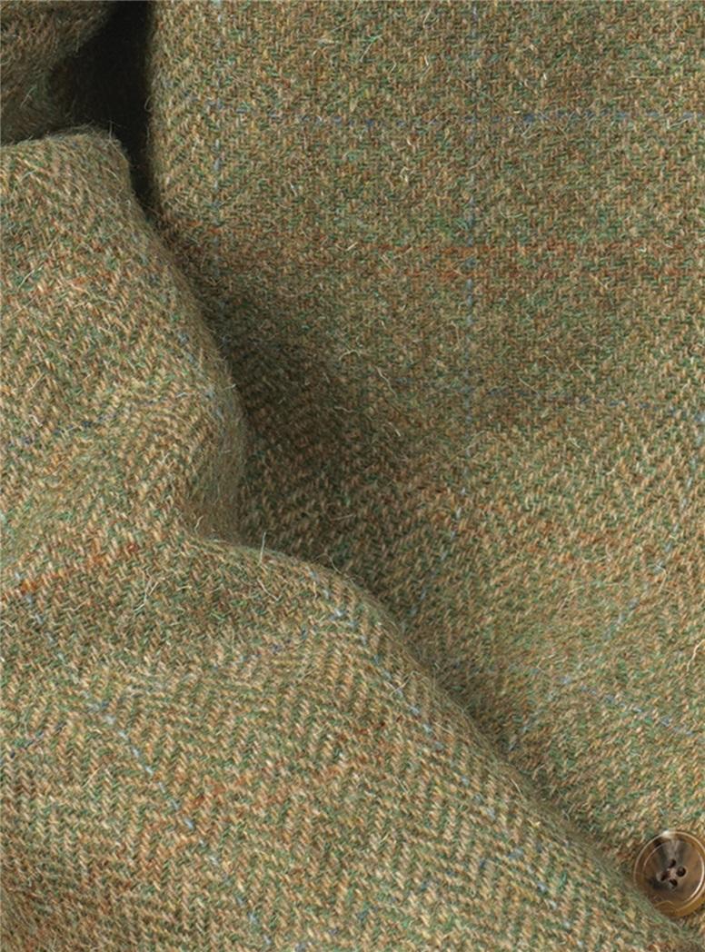 Soft Green Melange Wool Tweed Sport Coat