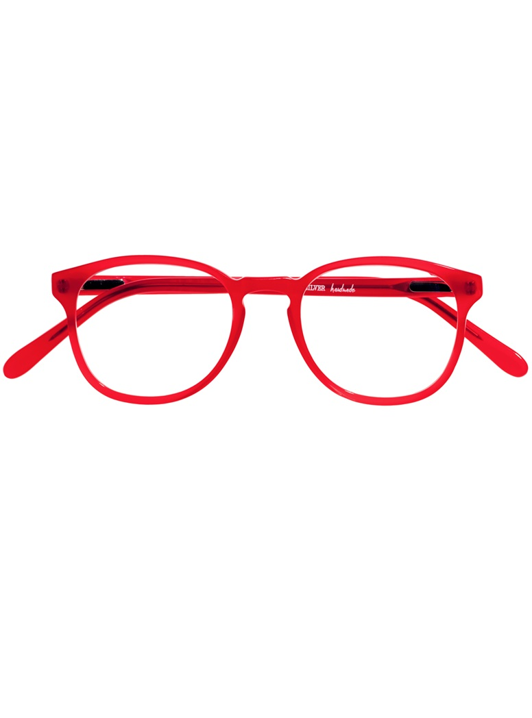 Retro Square Frame in Red