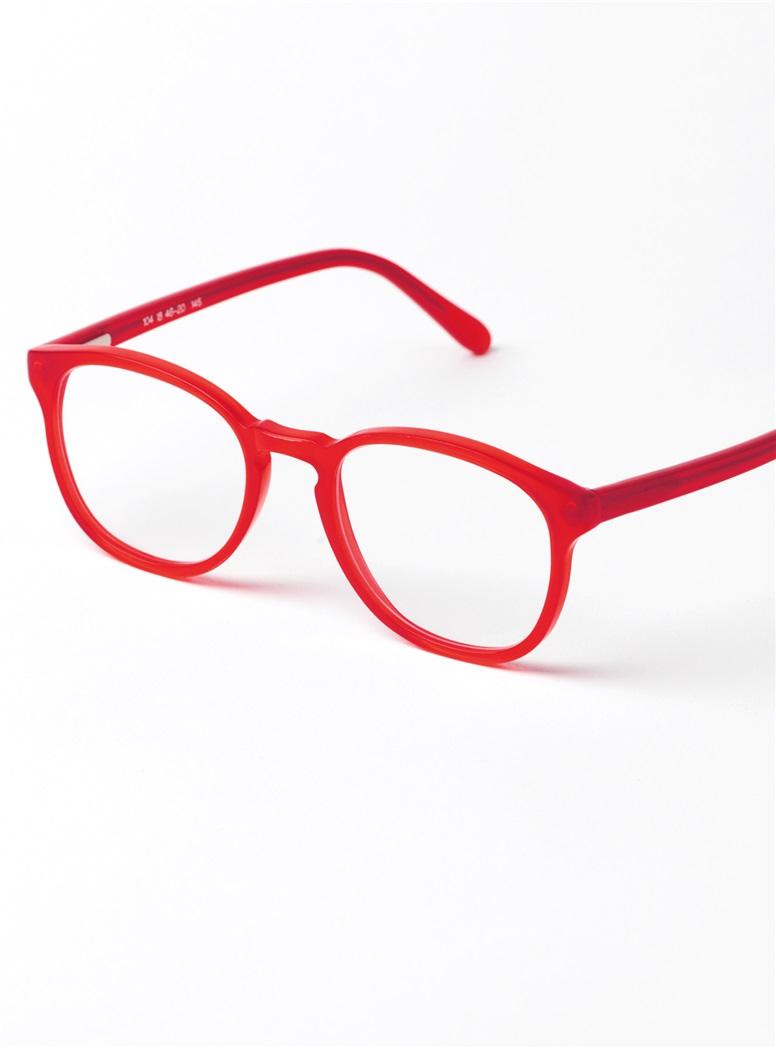 Retro Square Frame in Red