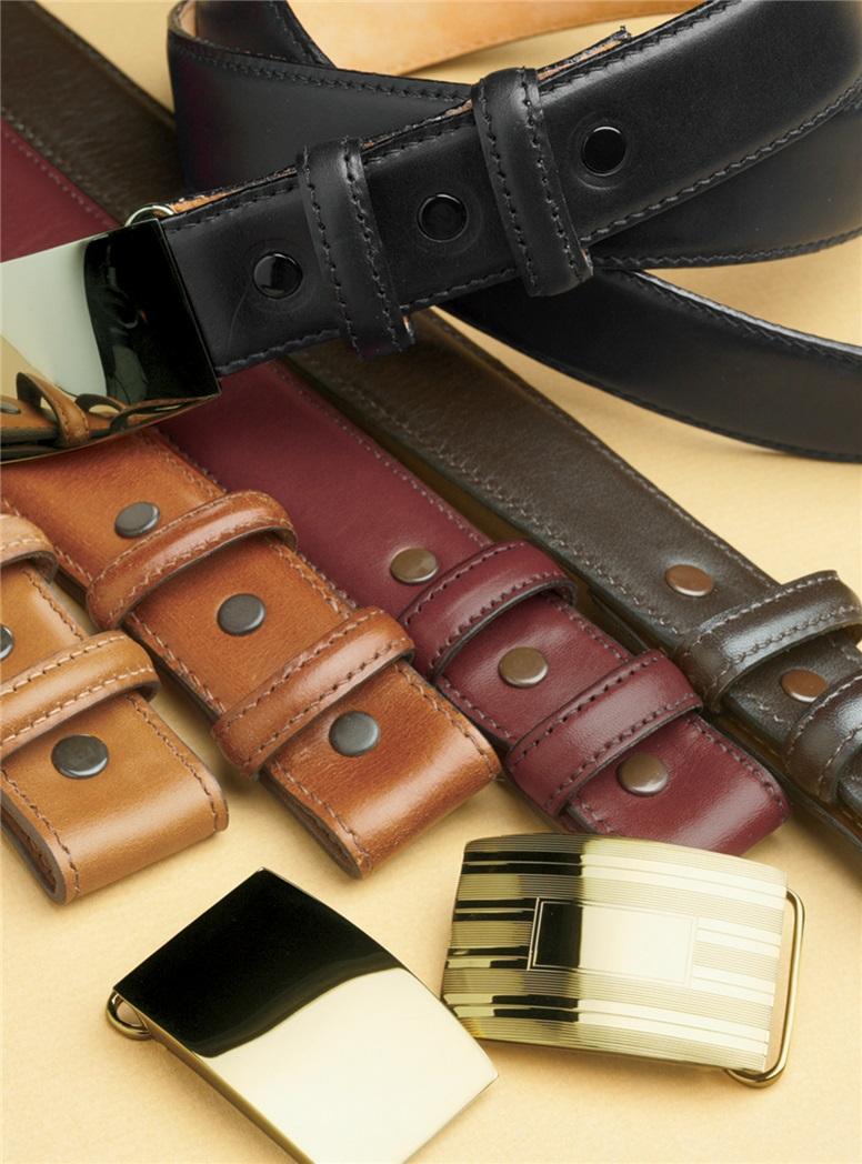 Sample Calfskin Leather Belt Straps