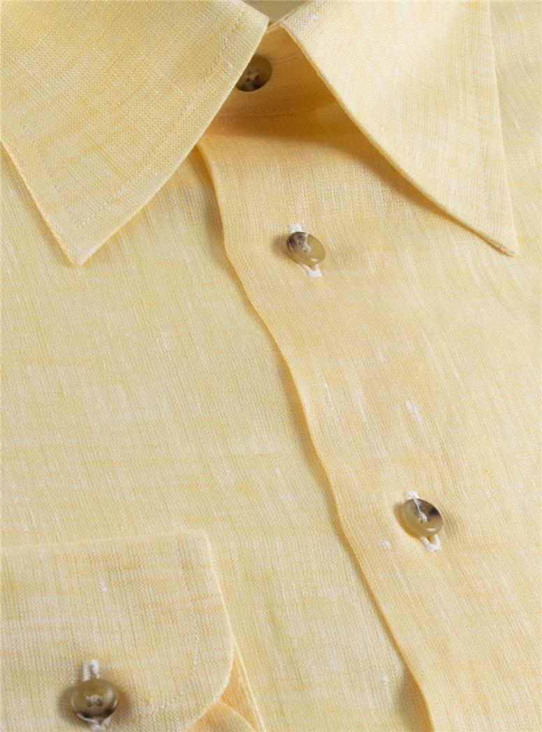 Yellow Charleston Linen Shirt