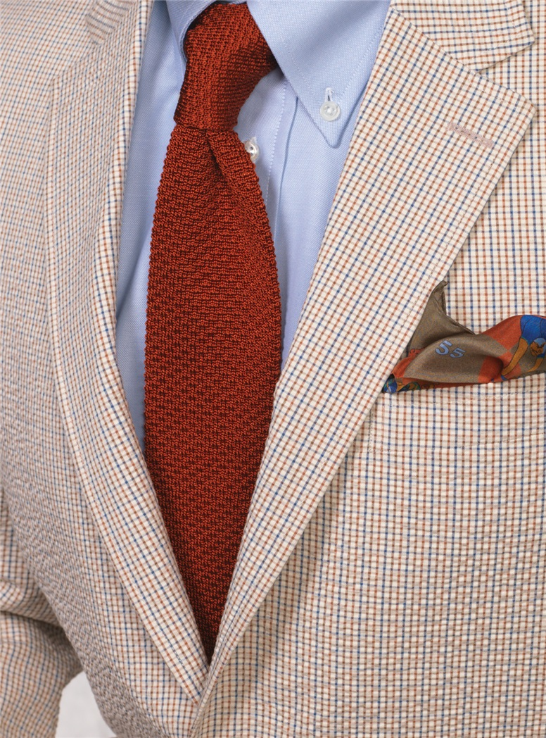 Classic Silk Knit Tie in Sienna