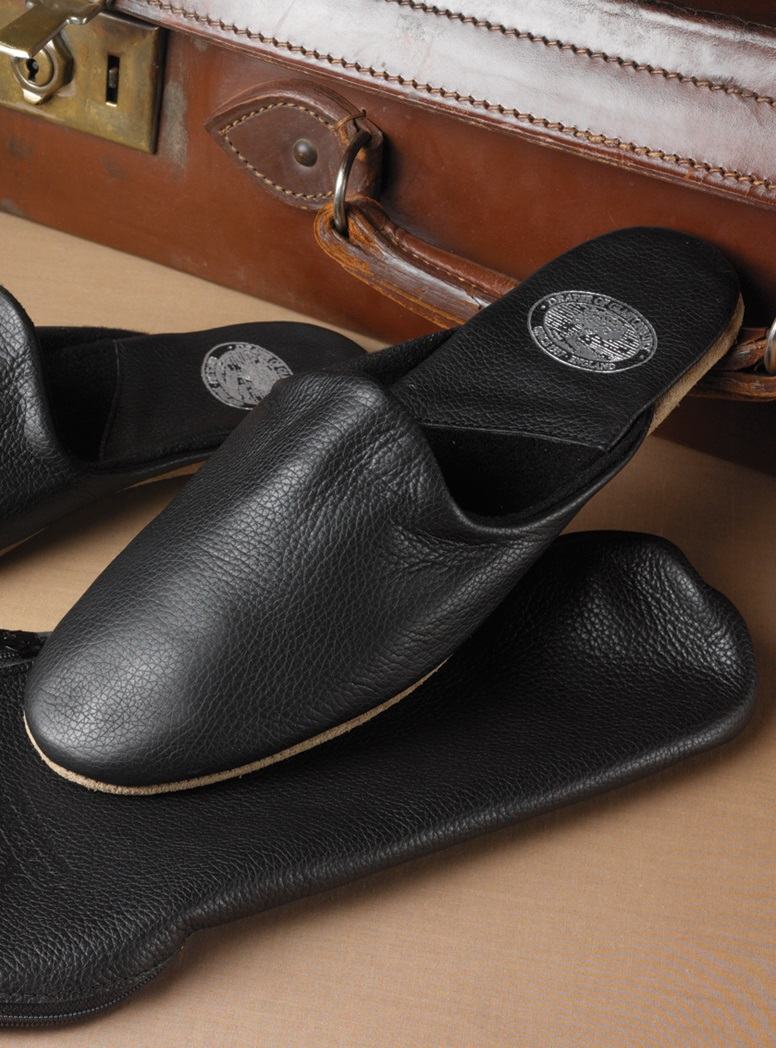 The Troy Travel Slippers in Calf Skin