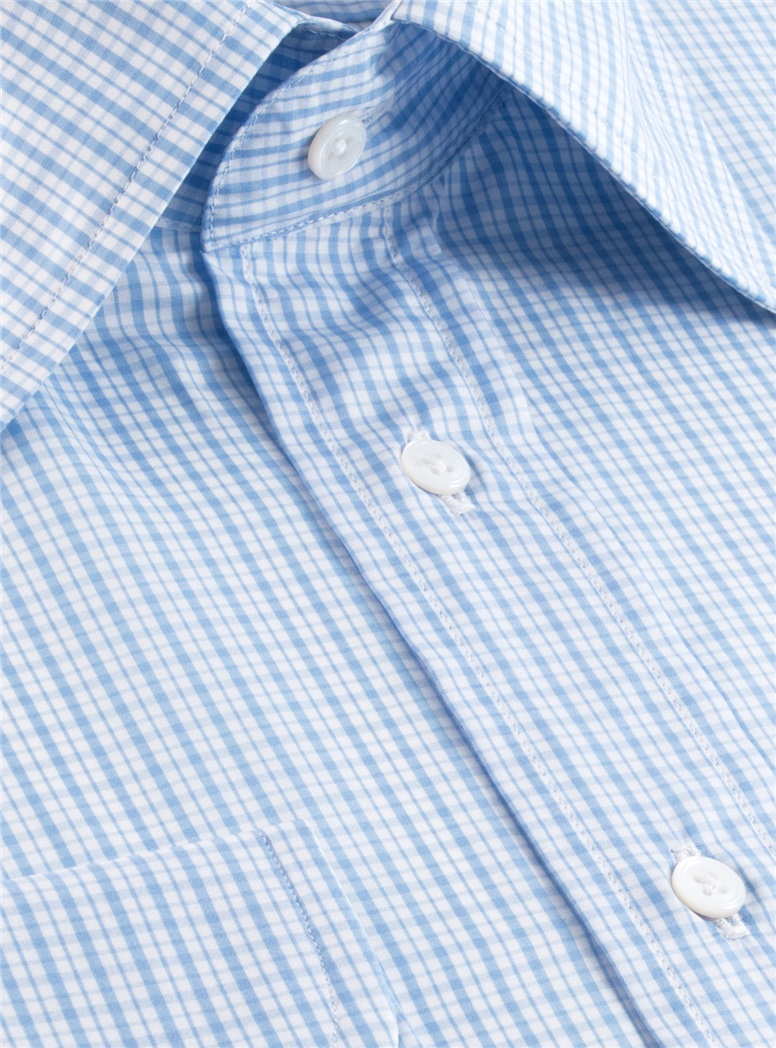 200's Classic Blue Check Kelly Collar