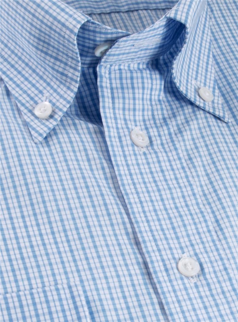 200's Classic Blue Check Button Down