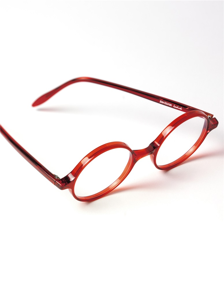 Slender Round Frame in Red