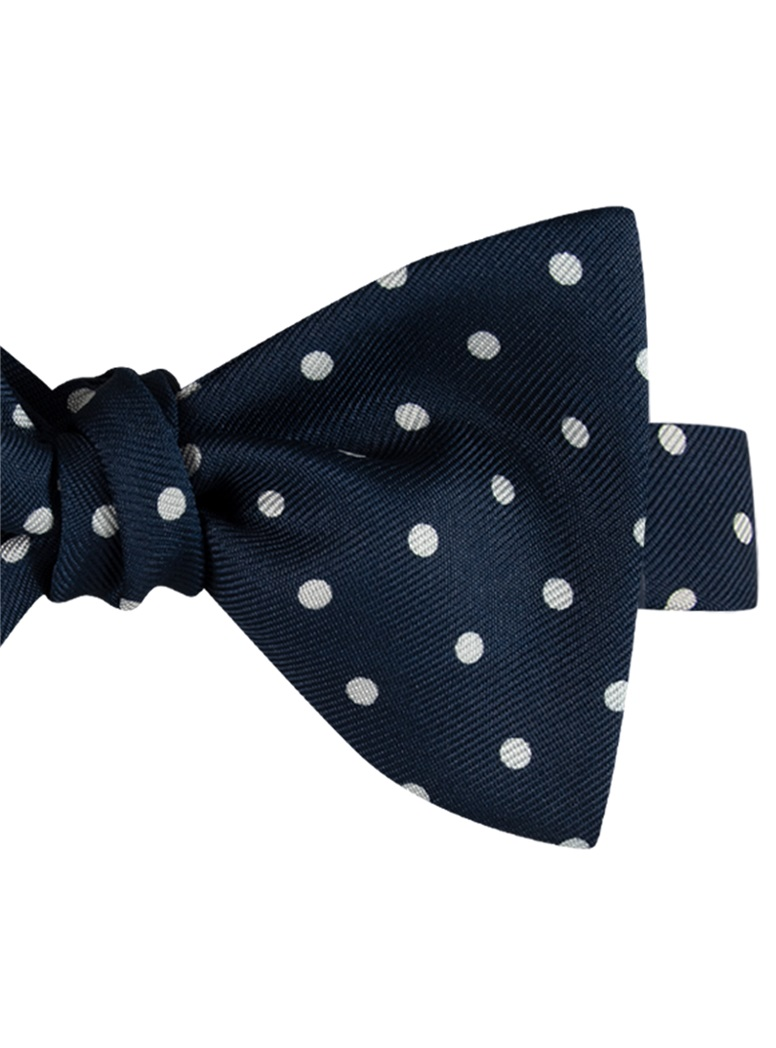 Churchill Dot Bow in Navy