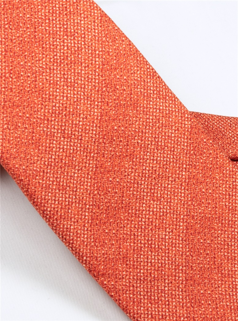 Silk Woven Tie in Flame