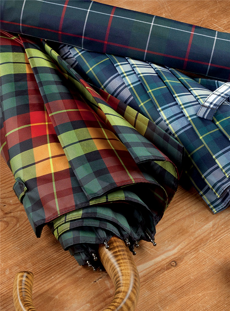 Tartan Telescopic Umbrellas